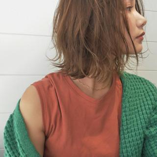 ボブ フェミニン 色気 ミディアム ヘアスタイルや髪型の写真・画像