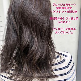 ハイライト グラデーションカラー イルミナカラー ナチュラル ヘアスタイルや髪型の写真・画像