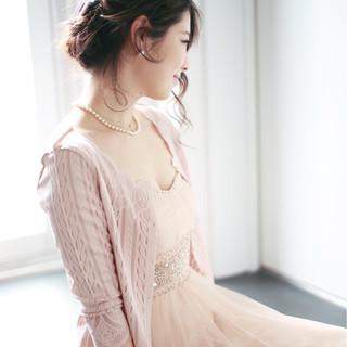 フェミニン ロング 外国人風 簡単ヘアアレンジ ヘアスタイルや髪型の写真・画像