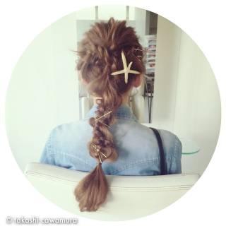 ロング ストリート ヘアピン ヘアアクセ ヘアスタイルや髪型の写真・画像