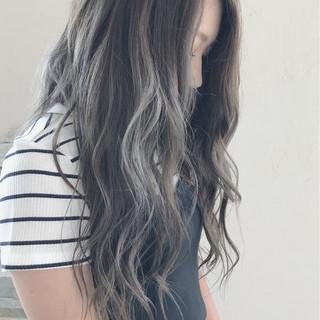 透明感 外国人風カラー ウェーブ ロング ヘアスタイルや髪型の写真・画像