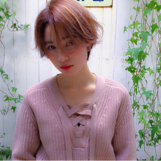 フェミニン ショート 外国人風 かっこいい ヘアスタイルや髪型の写真・画像
