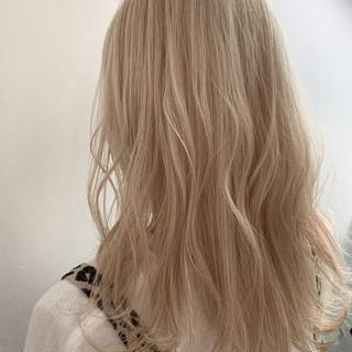 ロング ブリーチ必須 ブリーチオンカラー ブリーチカラー ヘアスタイルや髪型の写真・画像