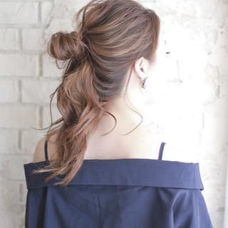 ゆるふわ ヘアアレンジ フェミニン ショート ヘアスタイルや髪型の写真・画像
