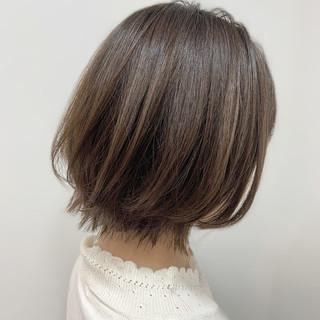 大人女子 ブランジュ 切りっぱなしボブ 大人かわいい ヘアスタイルや髪型の写真・画像