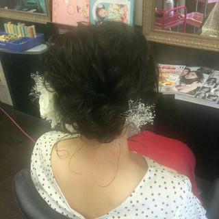 ヘアアレンジ ミディアム 結婚式ヘアアレンジ エレガント ヘアスタイルや髪型の写真・画像