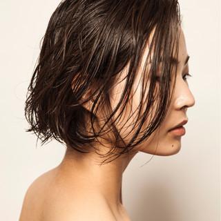 モード かっこいい ナチュラル 暗髪 ヘアスタイルや髪型の写真・画像