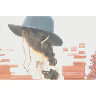 大人かわいい ストリート ハット ロング ヘアスタイルや髪型の写真・画像