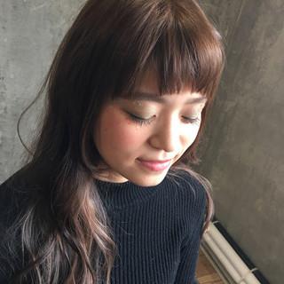 外国人風 ガーリー アッシュ ロング ヘアスタイルや髪型の写真・画像