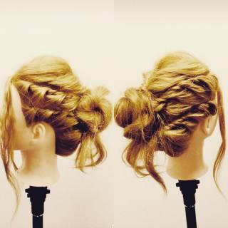 ヘアアレンジ 結婚式 アップスタイル コンサバ ヘアスタイルや髪型の写真・画像