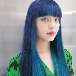 暗髪 モード 透明感カラー ブリーチカラー ヘアスタイルや髪型の写真・画像