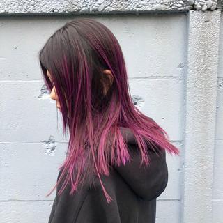 バレイヤージュ グラデーションカラー ベージュ ハイライト ヘアスタイルや髪型の写真・画像