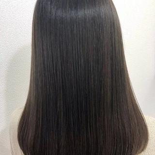 ストレート グレージュ ロング ブルージュ ヘアスタイルや髪型の写真・画像