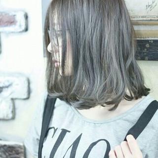 外国人風 ハイライト ボブ フェミニン ヘアスタイルや髪型の写真・画像
