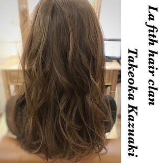 イルミナカラー アッシュ ナチュラル ロング ヘアスタイルや髪型の写真・画像