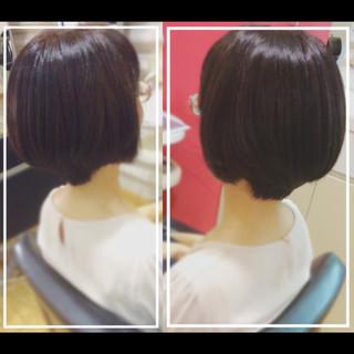 ショート 髪質改善 ナチュラル 髪質改善トリートメント ヘアスタイルや髪型の写真・画像