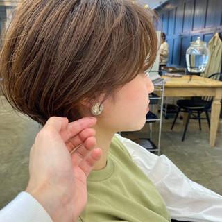 ショートヘア ショート ショートボブ アンニュイ ヘアスタイルや髪型の写真・画像