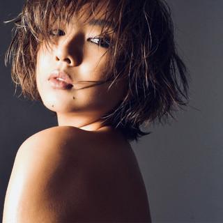 小顔 こなれ感 外国人風カラー モード ヘアスタイルや髪型の写真・画像