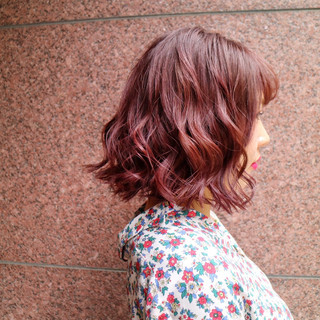 パープル オフィス 女子会 デート ヘアスタイルや髪型の写真・画像