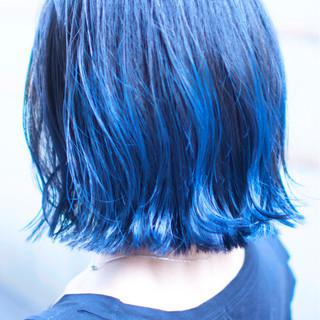 ボブ ハイライト ダブルカラー 外国人風カラー ヘアスタイルや髪型の写真・画像