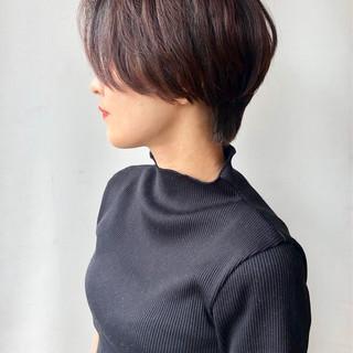 簡単スタイリング モード ショート ハンサムショート ヘアスタイルや髪型の写真・画像