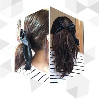 ツイスト ストリート ポニーテール 簡単ヘアアレンジ ヘアスタイルや髪型の写真・画像