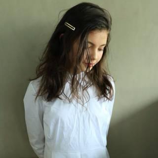 簡単ヘアアレンジ ショート ロング ウェットヘア ヘアスタイルや髪型の写真・画像