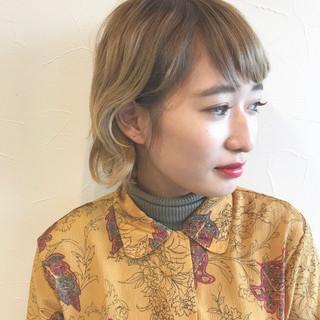 ブリーチ 外国人風 ダブルカラー ストリート ヘアスタイルや髪型の写真・画像