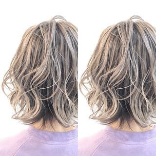 グラデーションカラー グレージュ ナチュラル バレイヤージュ ヘアスタイルや髪型の写真・画像