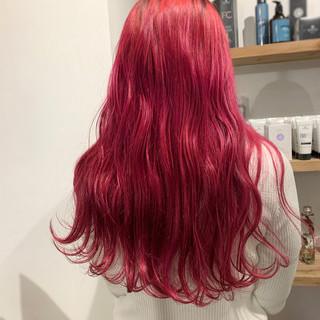 チェリーピンク ストリート ベリーピンク ピンクバイオレット ヘアスタイルや髪型の写真・画像