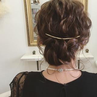 デート 後れ毛 パーティ 結婚式 ヘアスタイルや髪型の写真・画像