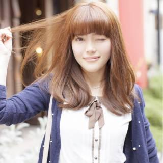 モテ髪 愛され フェミニン セミロング ヘアスタイルや髪型の写真・画像