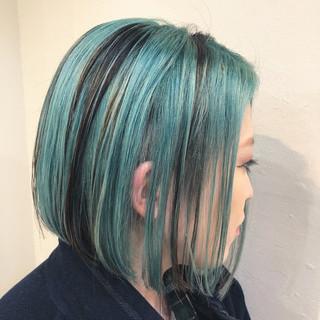 ハイライト グラデーションカラー ユニコーンカラー バレイヤージュ ヘアスタイルや髪型の写真・画像