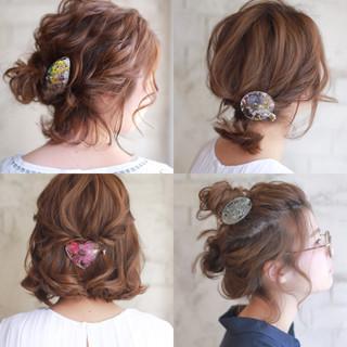 ボブ ゆるふわ 簡単ヘアアレンジ ショート ヘアスタイルや髪型の写真・画像 ヘアスタイルや髪型の写真・画像