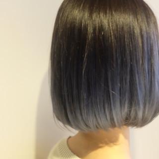 モード ブルージュ グラデーションカラー ネイビーアッシュ ヘアスタイルや髪型の写真・画像 ヘアスタイルや髪型の写真・画像