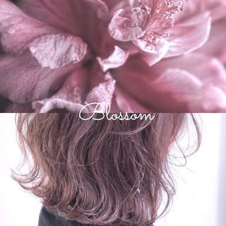 ラベンダーグレージュ ラベンダーピンク ナチュラル ピンクラベンダー ヘアスタイルや髪型の写真・画像
