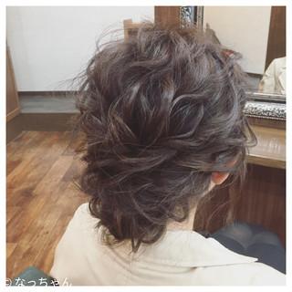 ヘアアレンジ パーティ ミディアム フェミニン ヘアスタイルや髪型の写真・画像 ヘアスタイルや髪型の写真・画像