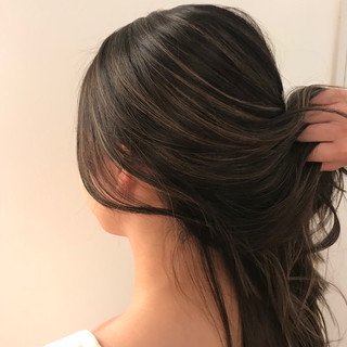 外国人風カラー ハイライト ロング ヘアカラー ヘアスタイルや髪型の写真・画像 ヘアスタイルや髪型の写真・画像
