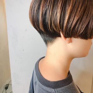 ショート スリークボブ ミニボブ モード ヘアスタイルや髪型の写真・画像