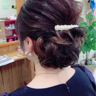ヘアアレンジ ナチュラル 結婚式 大人女子 ヘアスタイルや髪型の写真・画像