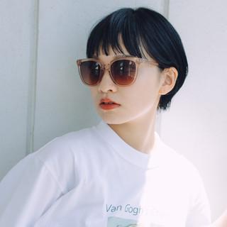 ハンサムショート ショートヘア ナチュラル 小顔ショート ヘアスタイルや髪型の写真・画像