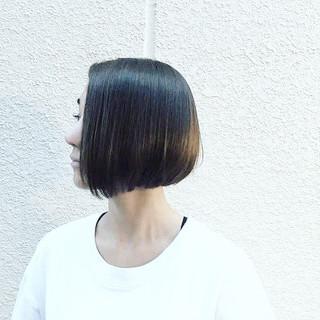 ロブ 外国人風 ボブ 黒髪 ヘアスタイルや髪型の写真・画像