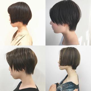ショートヘア ナチュラル ショートボブ 黒髪 ヘアスタイルや髪型の写真・画像 ヘアスタイルや髪型の写真・画像