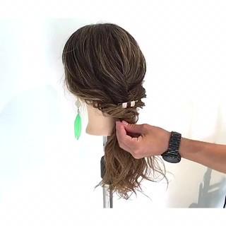 簡単ヘアアレンジ 梅雨 雨の日 アウトドア ヘアスタイルや髪型の写真・画像