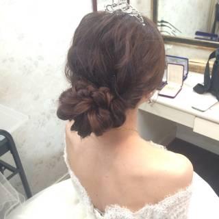 ブライダル コンサバ アップスタイル ルーズ ヘアスタイルや髪型の写真・画像