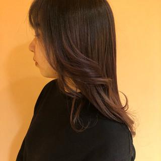 ナチュラル ピンクラベンダー ラベンダーピンク ロング ヘアスタイルや髪型の写真・画像