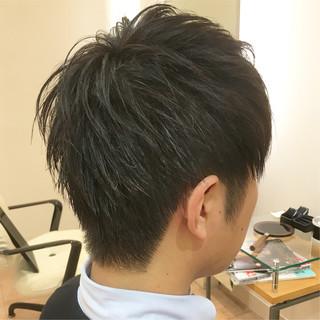 メンズ ショート 刈り上げ ツーブロック ヘアスタイルや髪型の写真・画像