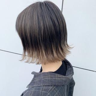 ハイトーンカラー ボブ ダブルカラー グラデーションカラー ヘアスタイルや髪型の写真・画像