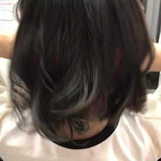 色気 暗髪 ガーリー グレージュ ヘアスタイルや髪型の写真・画像