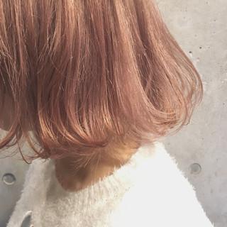 ダブルカラー ストリート ミルクティー ボブ ヘアスタイルや髪型の写真・画像